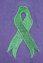 Green Ribbon T-Shirt 3XL Lymphoma Kidney Cancer Awareness Purple S/S Uni... - $20.55