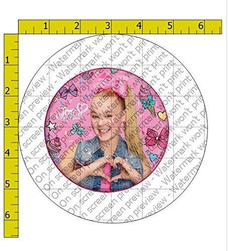 61gi669ydil Sl1500 JoJo Siwa Heart Birthday Edible Frosting Image 4 Round Cake Topper