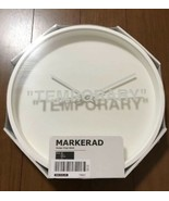 "IKEA x VIRGIL ABLOH MARKERAD  WALL CLOCK ""TEMPORARY"" White Color NEW - $165.15"