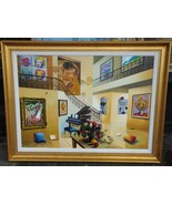 RARE XLRG DELUXE 10 IN 1 CHAGALL VAN GOGH MONET HOMMAGE PAINTING BY ORLA... - $12,375.00