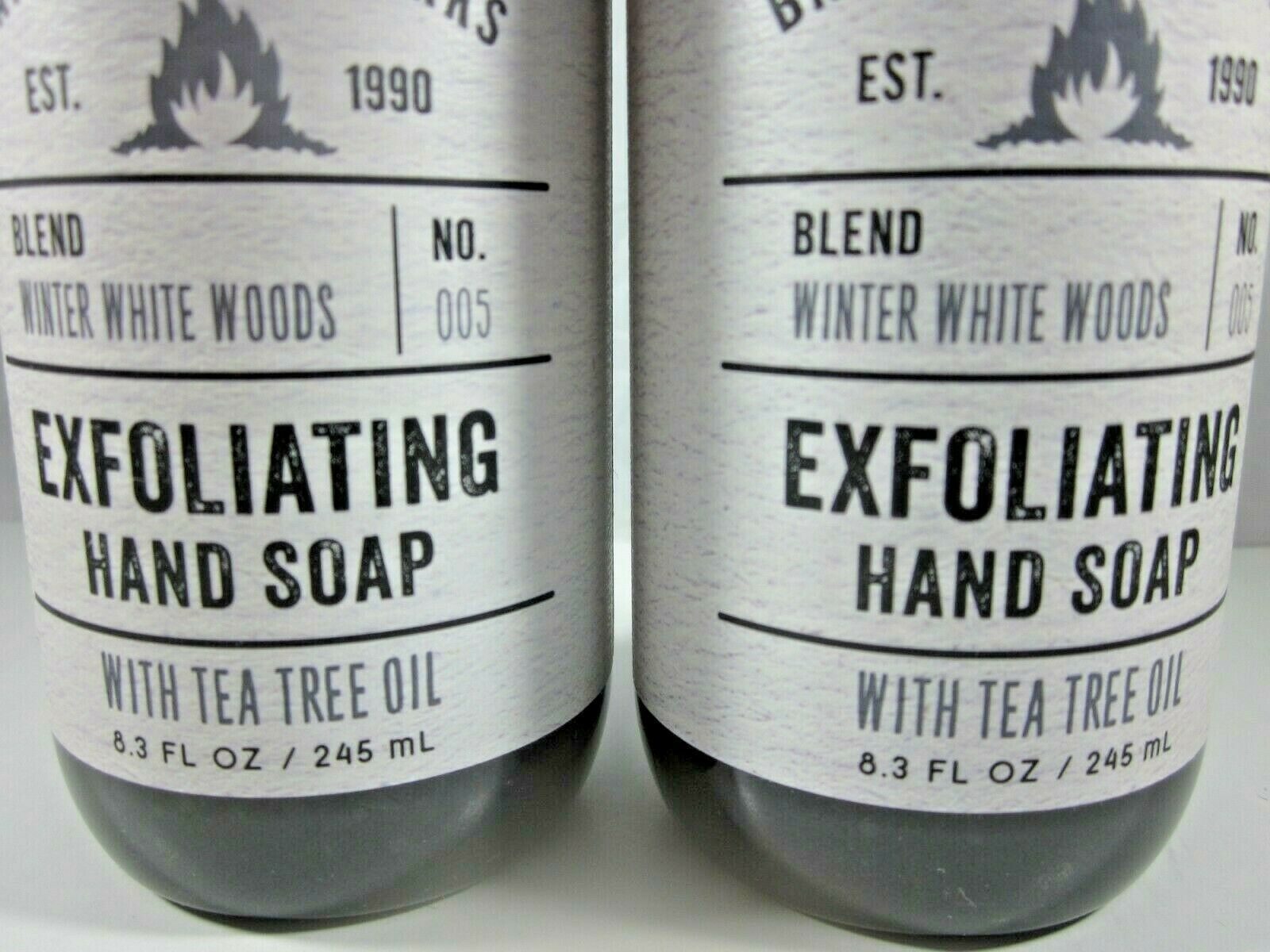 2 Bath & Body Works Exfoliating Hand Soap tea tree oil  Winter White Woods image 3