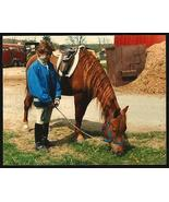 Horse Young Girl in Black Riding Boots 1986 Vintage Photograph Nice Capture - $12.99