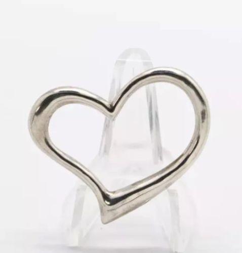 .925 Sterling Silver Open Heart Pendant (3.8 g)