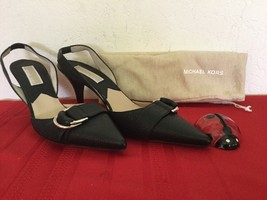 Michael Kors  Womens High Heel Slingback Black Leather  Sz 7M - $60.00