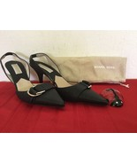 Michael Kors  Womens High Heel Slingback Black Leather  Sz 7M - $60.00
