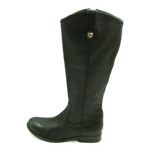 Frye Womans Knee High Leather Boot Black Side Zipper Cushioned Insole Sz... - $65.30
