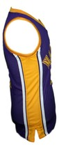 Hoop Dreams Movie Arthur Agee Basketball Jersey Sewn Purple Any Size image 4