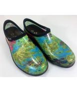Sloggers Women's Waterproof Rubber Clogs Rain Shoes SZ 8 Multi Color Floral - $38.22