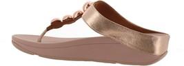 FitFlop Francheska Glitzy Toe Post Sandal Rose Gold 6 NEW 699-161 - $91.06