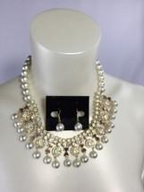 "18"" Costume Jewelry Necklace Small Bib Prom Wed... - $24.50"