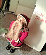 Vintage Hemp beard Santa Claus Figure LEE WARDS blue strange eyes Nature... - $175.00