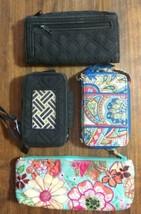 Lot 4 Vera Bradley Wallet Wristlet Card Holder Makeup Case ld - $13.71