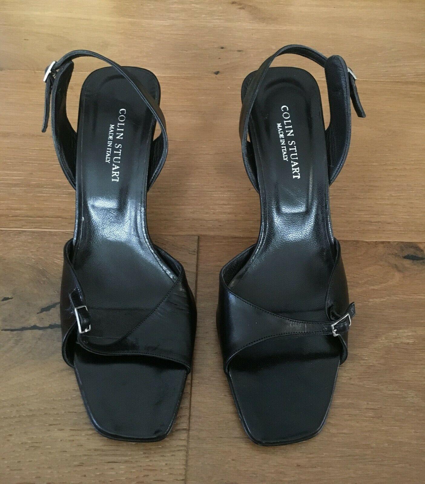 Colin Stuart Black Leather High Heel