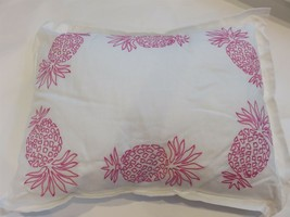 Tommy Bahama BAHAMA COVE Decorative Throw Pillow Embroidered Pink Pineapple - $44.57