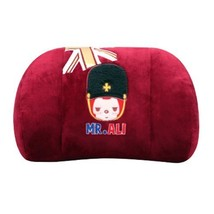(Mr.ALI) Memory Cotton Waist Pillow/lumbar Support/Back Cushion,Ruby Red