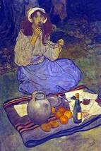 Miguela, kneeling still, put it to her lip by Elizabeth Shippen Green - Art Prin - $19.99+