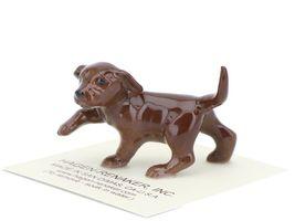 Hagen Renaker Dog Labrador Retriever Puppy Chocolate image 3