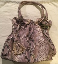 Cole Haan Bailey Snakeskin Zip Tote Python Pattern Bag - $58.89