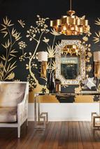 NEW Regency Modern Coastal Gold Leaf Oyster Shell Wall Bath Vanity Hall Mirror - $1,078.11