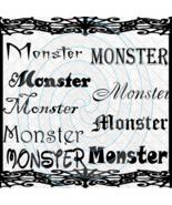 Monster Fonts 1a-Digital ClipArt-Gift Tag-Halloween-Scrapbook-Banner-Bac... - $3.99