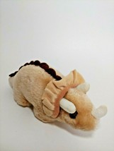Russ Berrie & CO. Plush tan brown dinosaur small vintage Triceratops mad... - $12.86
