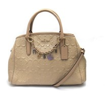 COACH NWT Signature Debossed Leather Margot Carryalll w/Bracelet IM F22259 - $287.09