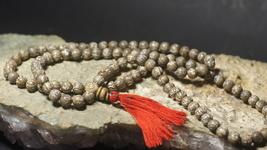 Naga Conch Shell Mala Prayer Beads Patterned Mantra Healing Soul Recover... - $370.00