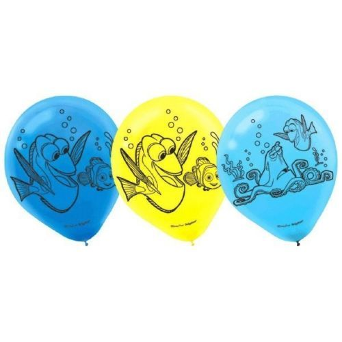"Finding Dory Birthday Party Latex 12"" Balloons 6 Ct"