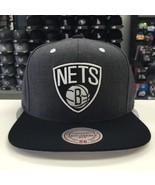 Mitchell & Ness NBA Brooklyn Nets Dark Heather Charcoal Snapback OSFA #1... - $23.26