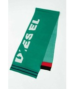 Diesel unisex K-Type 00S9F0 bufanda de punto fino verde - $50.71