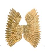 Metal Golden Roman Aquila Eagle Divine Angel Art Wings Huge Wall Hanging... - $431.04