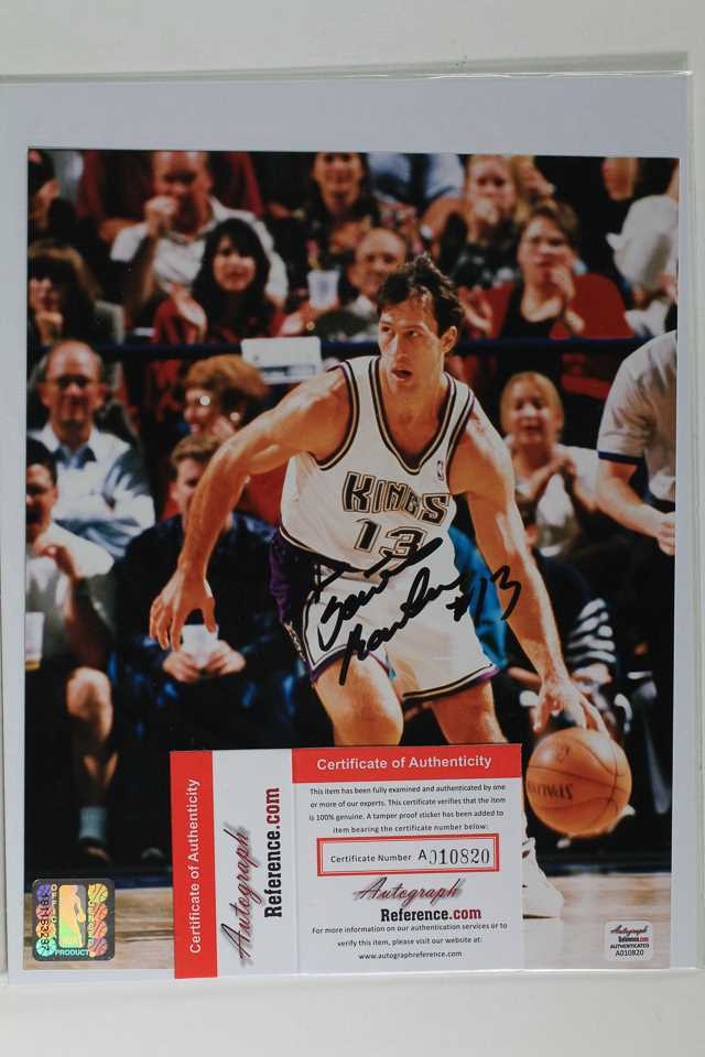 Primary image for Sarunas Marciulionis Signed Autographed Glossy 8x10 Photo - Sacramento Kings