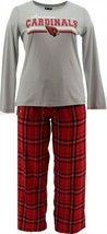 NFL Men's Pajama Set Long Slv Top Flannel Pants Cardinals XL NEW A387683 - $30.67