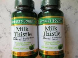 2 BOTTLES Natures Bounty Milk Thistle 175mg Herbal Health 100 Capsules  EXP 5/23 - $15.79