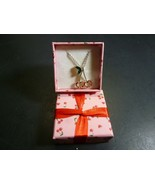 Avon Silver Toned Necklace with Cherry Pendant - $12.86