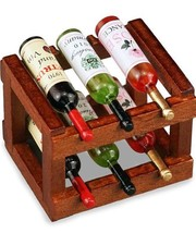 DOLLHOUSE Wood Wine Rack with Wines Reutter 1.852/5 Miniature - $27.73