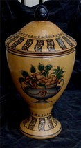 Beautiful Ceramic Footed Urn, GREAT CRACKLE EFFECT, VERY GOOD COND - $39.59