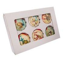 Kurt Adler 85mm Decoupage Ball Ornament Set of 12, 12 Piece - $40.25