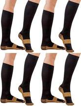 4 Pair Black/Gold Sm/Med - TASOM Compression Socks Over the Calf Below K... - £17.89 GBP