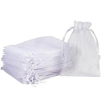 "Madholly 300 Pieces Sheer Drawstring Organza Gift Bags,3.9""x5.7"" Wedding... - $29.66"