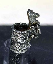 NICE OPEN Cookie Jar Canister Charm Sterling Silver jewelry - $16.94