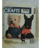 McCalls Crafts 9356 Dapper Dogwear, Shirt, Tuxedo, Raincoat & Collars Un... - $18.82