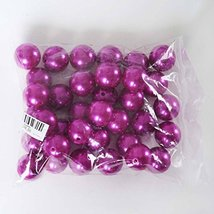 ty Sale! Big Faux Pearl Beads Vase Filler Size 30MM (Fucshia) - $40.84