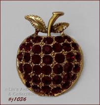 Signed Eisenberg Ice Apple Shape Pin (#J1036) - $38.00