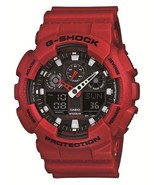CASIO Wrist Watch G-SHOCK GA-100B-4AJF Men's Round Face Red Color LED Light Z98 - $115.00