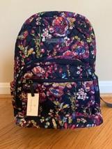 VERA BRADLEY ESSENTIAL BACKPACK Midnight Wildflower Back To School Bag NWT - $74.20