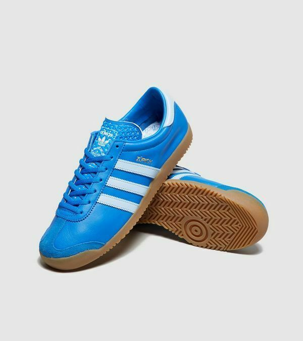 adidas Originals Zurich Blue / White  Mens Leather Trainers image 2