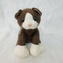 "10"" Dongguan Soyea Brown White Cat Kitten Fuzzy Plush Stuffed Animal Toy... - $14.97"