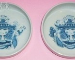 """MADE IN JAPAN SHAFFORD CHINA- MID CENTURY BJORN WIINBLAD STYLE PLATES 4 1/2"""""""