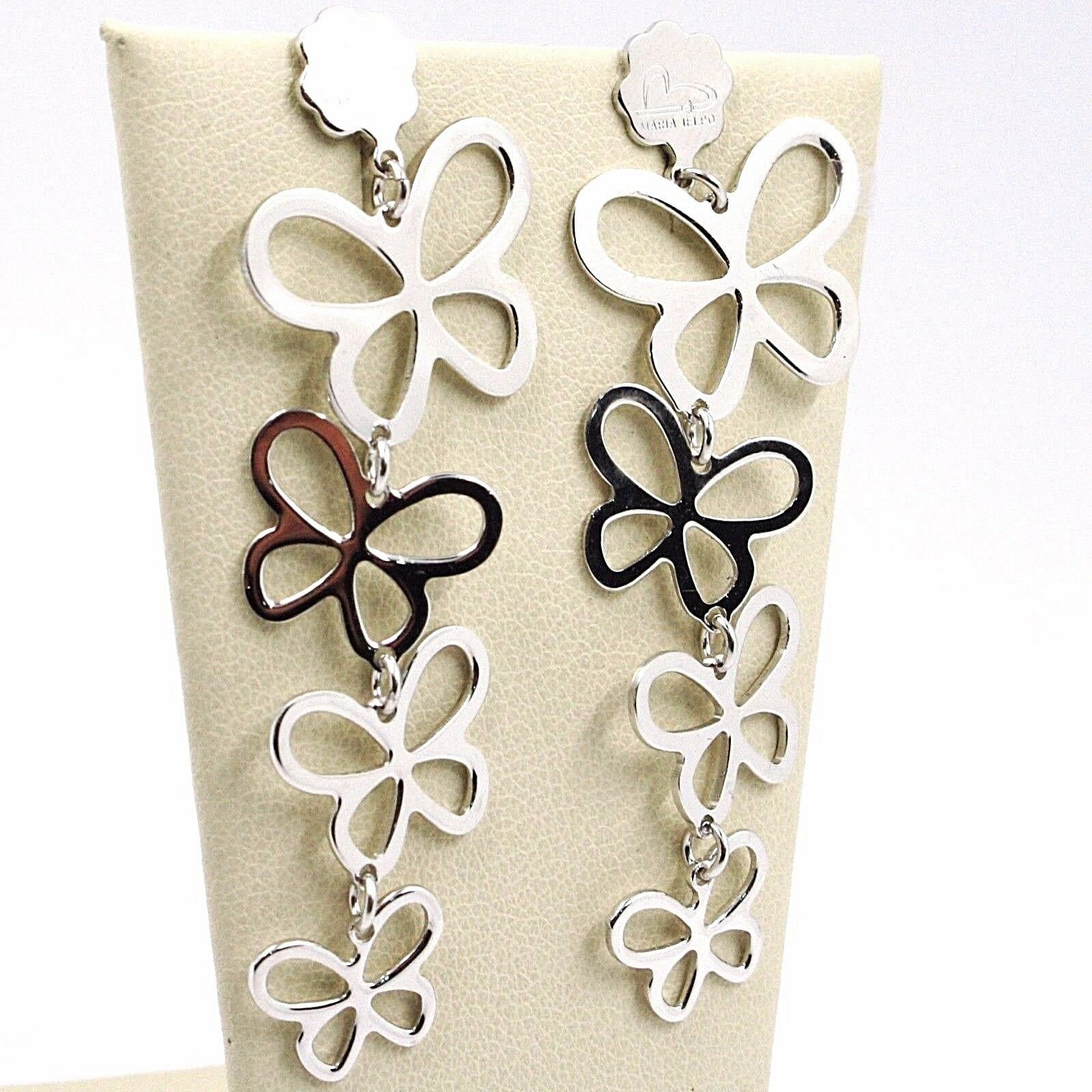 Drop Earrings Silver 925, Family Butterflies, by Maria Ielpo , Made in Italy